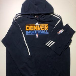 Denver Nuggets Hoodie Adidas Authentic Basketball